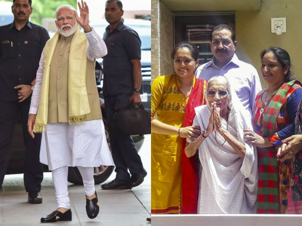 pm modi to visit gujarat tomorrow seek mothers blessings