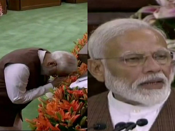 Modi bows before the Constitution of India