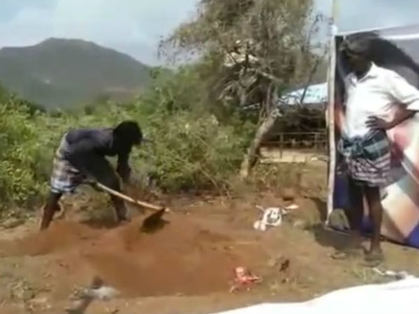 wife digs out husbands body after suspected his death