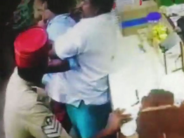 Rowdies attack police men in Puducherry