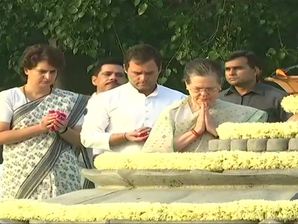 Rahul Gandhi, Sonia Gandhi pay tribute to Rajiv Gandhi, on his death anniversary