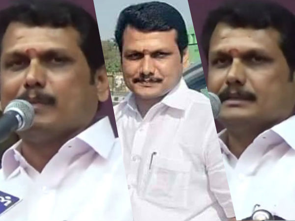 In Aravakurichi Campaign, Senthil Balaji slams AIADMK and BJP