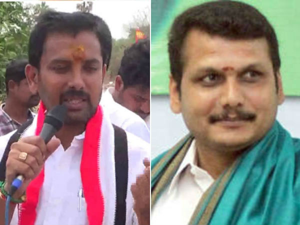 aiadmk candidate senthil nathan accuses dmk candidate senthil balaji gives 2000 rupees xerox note to people