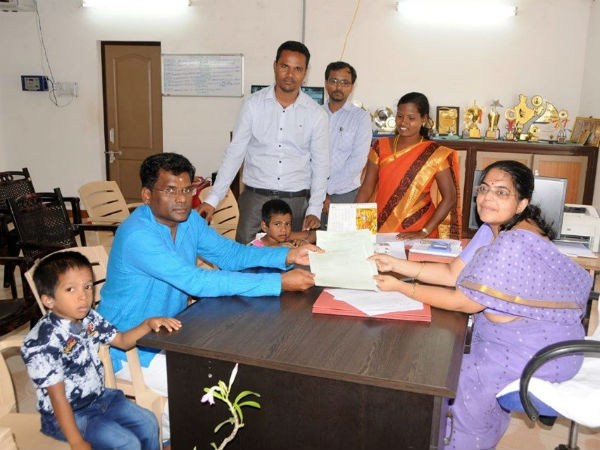 2 poor children joined the Kendriya Vidyalaya School by Thiruvannamalai Collector