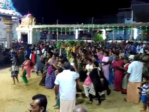 Womans danced in Temple festival at Sathiyamangalam