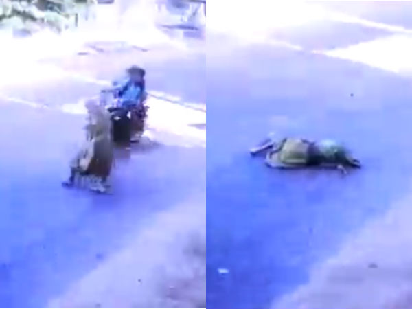 elder woman knocked down by speeding bike