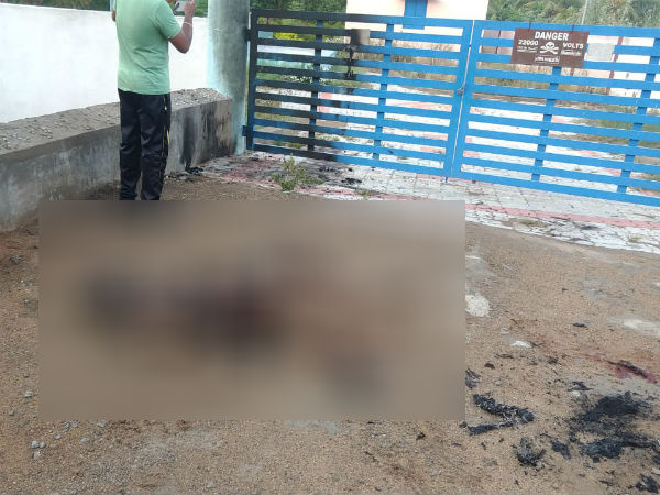 Burned body of youth found near Theni
