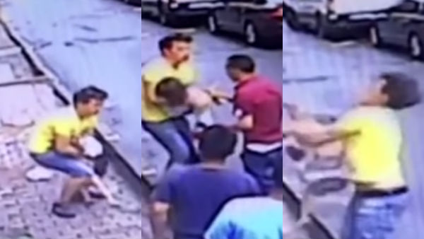 Video captures moment teenager saves baby falling from apartment in Turkey