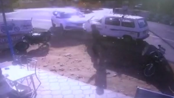 CCTV Footage has released on Road Accident near Palladam