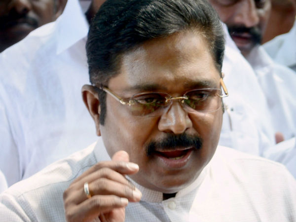 The Government of Tamil Nadu has issued a blank announcement notice to divert people ..TTV dinakaran