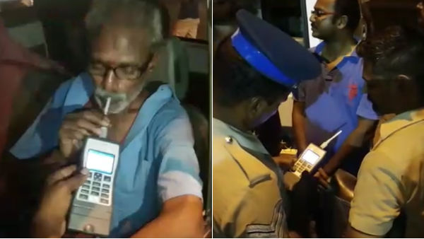 Gov Bus Driver and Conductor arrested for Drunk and Drive near Kanchipuram
