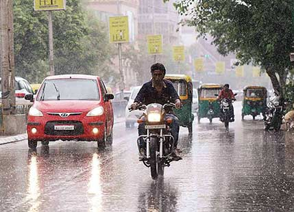 The chance to heavy rain with thunderstorms in Northern States