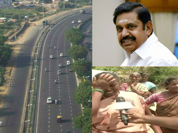 people stir up against the 8 way road.. strong opposition CM Palaniswami speech