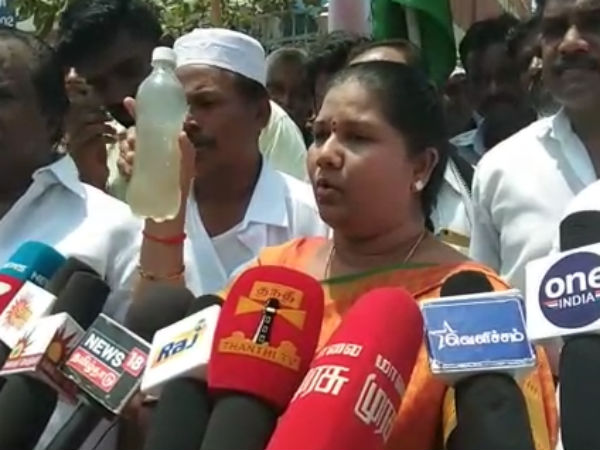 Kooduvanchery DMK and Alliance, Protest to privide drinking water