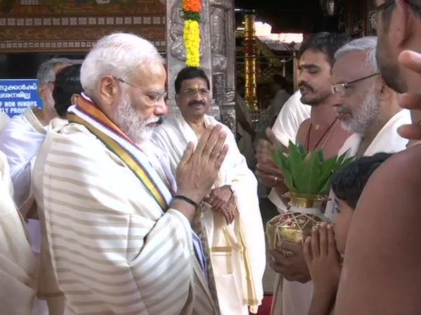 ஜெயலலிதா பாணியில் மோடி.. குருவாயூரப்பன் மீது மிகுந்த பக்தி