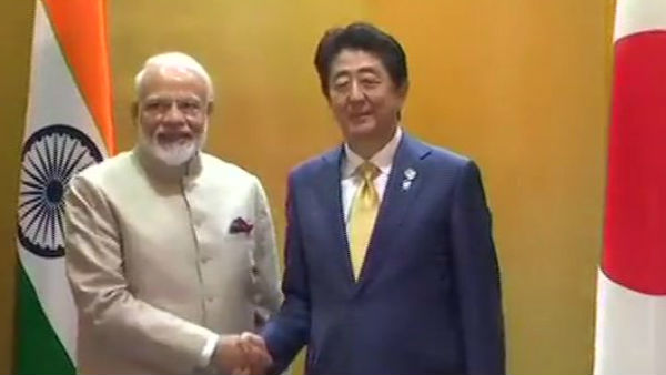 PM Modi meets Japan PM Shinzo Abe
