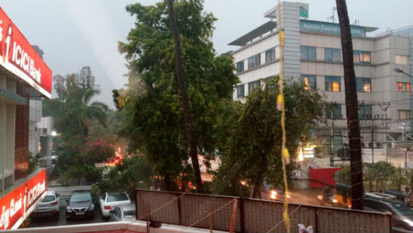 Heavy winds, thunder and pouring rain in most parts of Chennai
