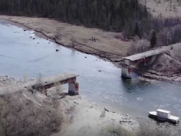 russian railway bridge stolen