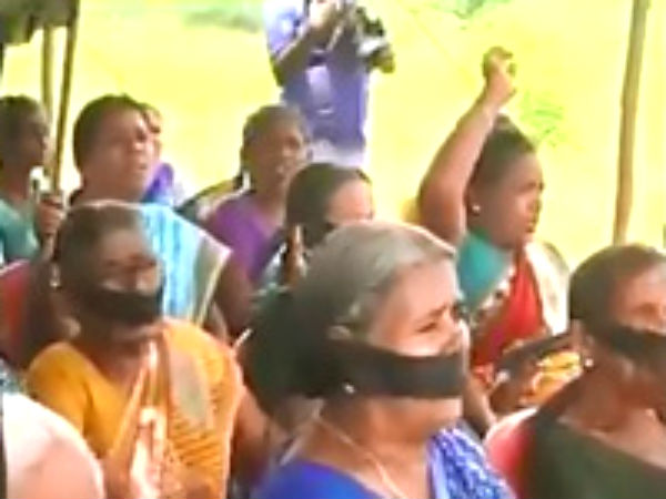 23 Villages of Salem indulge in protest against 8 way lane project