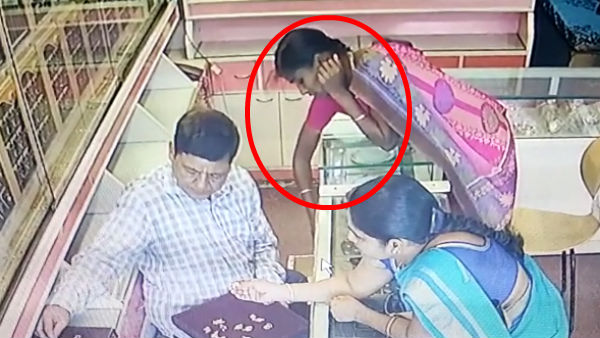 CCTV Footage of looting jewelry in Chennai