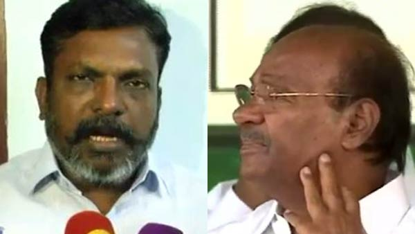 Case will be Filed against Ramadoss, VCK Party Leader Thirumavalavan Statement