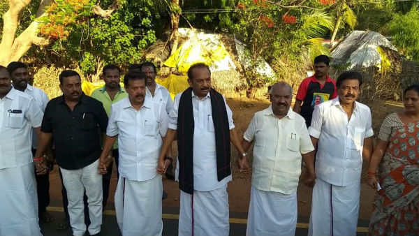 Human Chain Protest Marakkanam to Rameshwaram to oppose hydrocarbon project