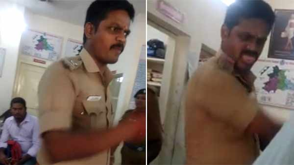 Viral Video about Chinna Salam Sub Inspector attacked youth blindly