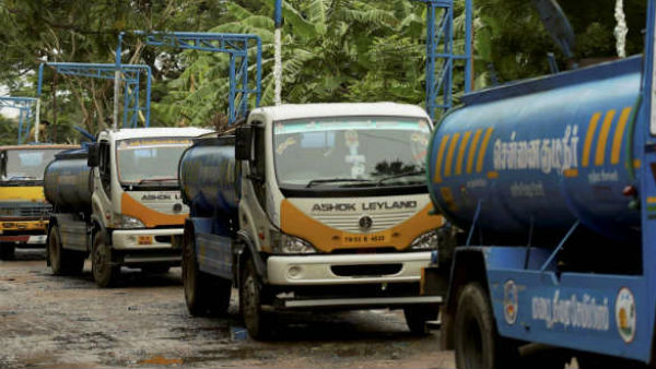 20,000 water trucks will not run unless proper permit and protection is issued.. Warn to Government of Tamilnadu