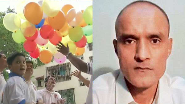 Friends of #KulbhushanJadhav celebrate after International Court of Justice