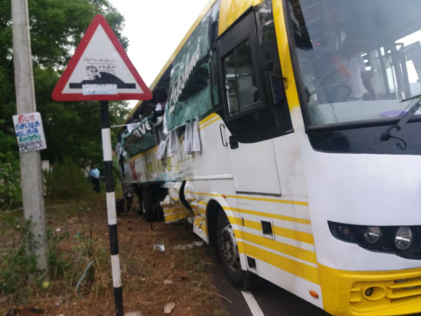 Lorry bus accident and 2 died near Dharmapuri