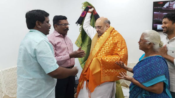 Arputhammal meets Home Minister Amit Shah