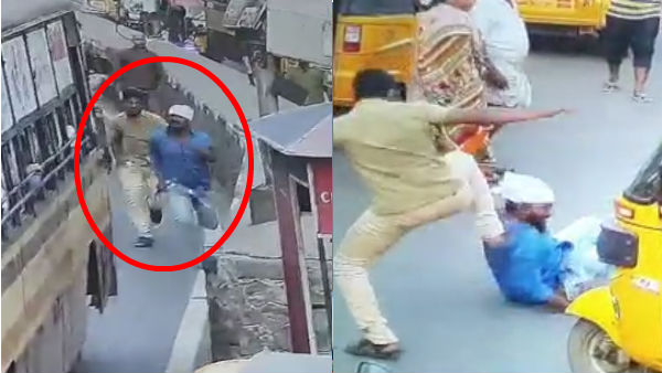 CCTV Footage about two men have attacked a man in Chennai