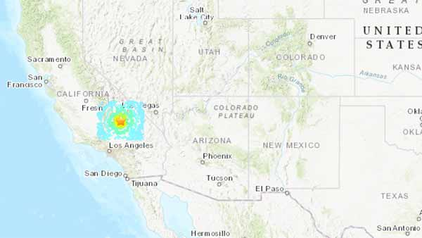 United States Geological Survey: A M 7.1 Earthquake strikes Southern California