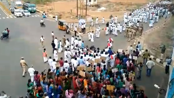 College students hold protest against Hydro Carbon project in Tanjore