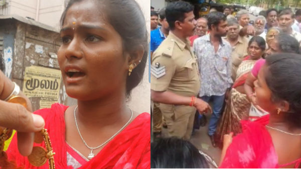 Two young girls caught by public in Chennai for Jewel looting