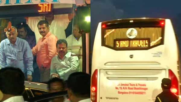 Karnataka politics in a thrilling environment.. BJP sends MLAs to resort to safety