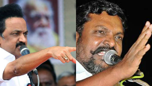 MK Stalin amd Thol.Thirumavalavan condemns on Hindi imposition in postal exam