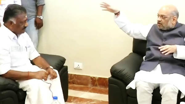 O Panneerselvam meets Amit shah