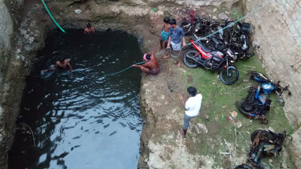 bikes recovered from well