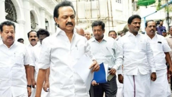 DMK walk out in the issue of Postal Department exam