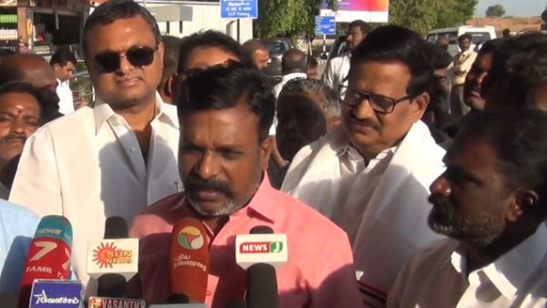 Dont want to be accused of Massacre only in the AIADMK regime Says Thirumavalavan MP