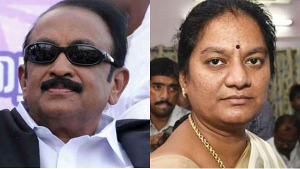 AIADMK MP Sasikala Pushpa opposes Vaiko as RS MP