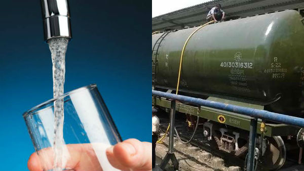 Drinking water from Jolarpe to Chennai by trains, test drive succesfully started