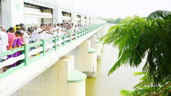 Cauvery water reached Mukkombu from Mettur
