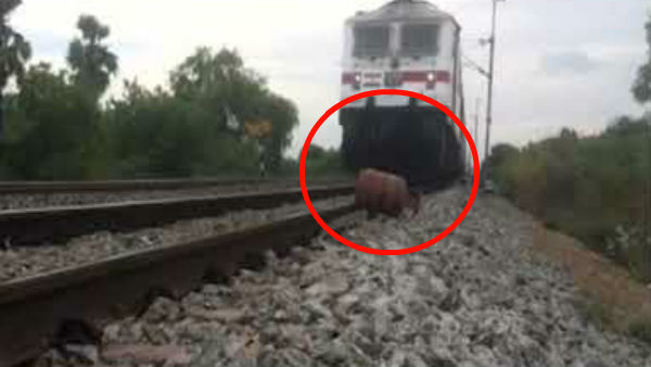 AP Man keeps LPG cylinder on train track to make video for youtube