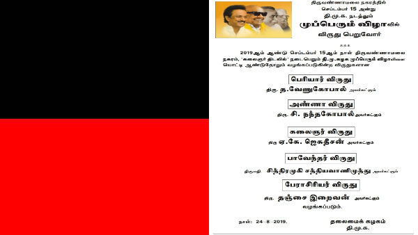 dmk mupperum vizha awards announced