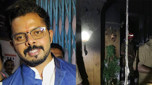 Fire broke out at cricketer Sreesanths house in Kochi