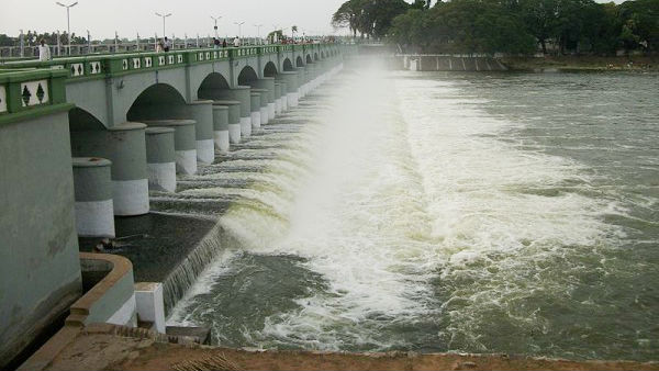 Cauvery Water released from Kallanai Dam for Delta Irrigation