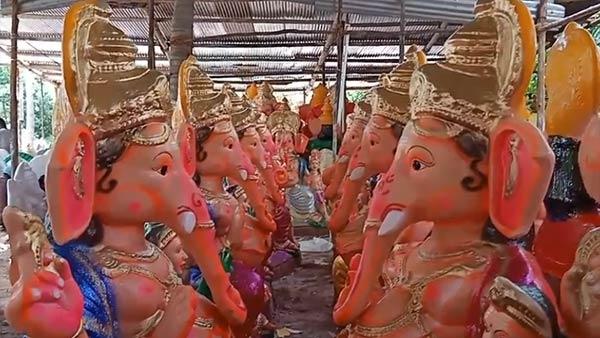 விறுவிறுன்னு தயாராகும் விநாயகர் சிலைகள்.. கன்னியாகுமரியில் கோலாகலமாக தயாராகும் கணேசர்கள்