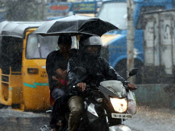 Heavy rain in many parts of Chennai from early morning